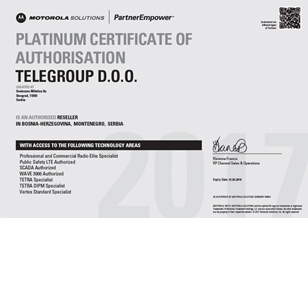 TeleGroup postao Motorola Platinum partner